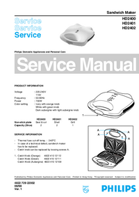 Manual de servicio Philips HD2400