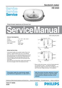 Manual de serviço Philips HD 2423