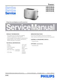 Service Manual Philips HD2520/A