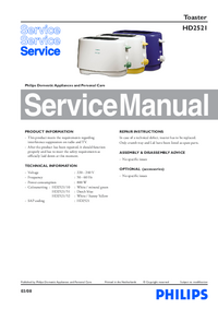 Manual de servicio Philips HD2521