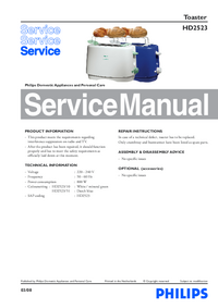 Manual de servicio Philips HD2523