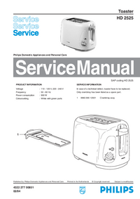Manual de servicio Philips HD 2525