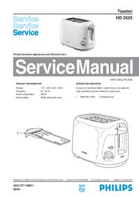 Servicehandboek Philips HD 2525