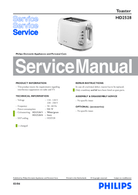Manual de servicio Philips HD2528