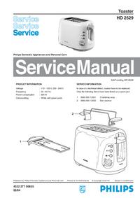 Manual de serviço Philips HD 2529
