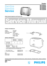 Service Manual Philips HD 2530/A