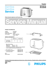 Service Manual Philips HD 2531/A