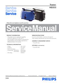 Servicehandboek Philips HD2533
