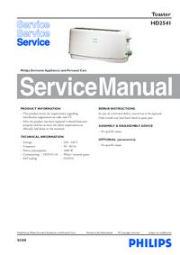 Manual de servicio Philips HD2541