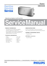 Manuale di servizio Philips HD2542/B