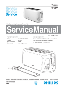 Servicehandboek Philips HD 2544