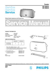 Manuale di servizio Philips HD 2560/A