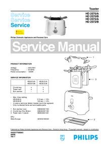 Service Manual Philips HD 2570/A