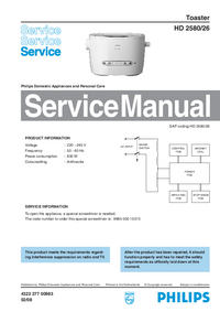 Service Manual Philips HD 2580/26