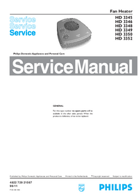 Servicehandboek Philips HD 3350