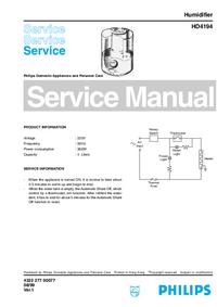 Manual de serviço Philips HD4194
