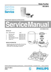 Manuale di servizio Philips HD 3810