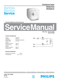 Service Manual Philips HD4219/A
