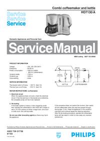 Serviceanleitung Philips HD7130/A