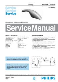 Instrukcja serwisowa Philips FC 6044