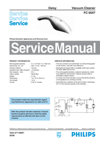 Manual de servicio Philips FC 6047