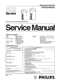 Manual de servicio Philips HD4520