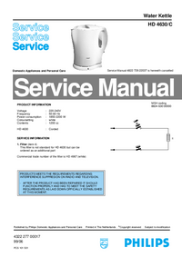 Service Manual Philips HD 4630/C