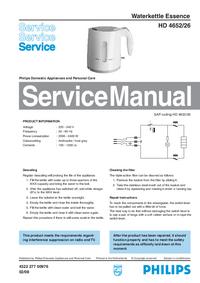 manuel de réparation Philips Essence HD 4652/26