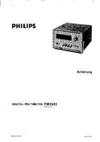 Обслуживание и Руководство пользователя Philips PM 2422