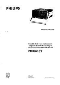 Service and User Manual Philips PM 3260