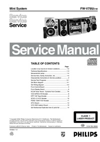 Service Manual Philips FW-V795/21M