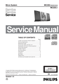Service Manual Philips MC230