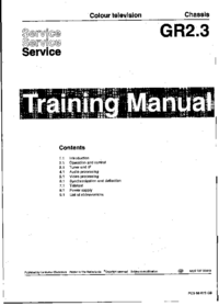 Service Manual Philips Chassis GR2.3