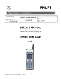 Manual de servicio Philips XENIUM DUAL BAND