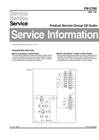 Supplément manuel de réparation Philips FW-C780