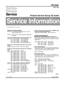 Руководство по техническому обслуживанию дополнения Philips FW-C550