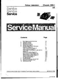 Service Manual Philips Chassis GR2.1 AA