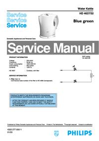 Instrukcja serwisowa Philips HD 4632