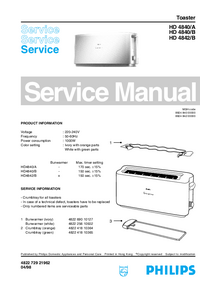 Service Manual Philips HD 4840/A