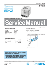 Manual de servicio Philips Cucina HD 6153/6