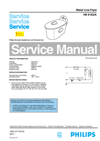 Service Manual Philips HD 6162/A