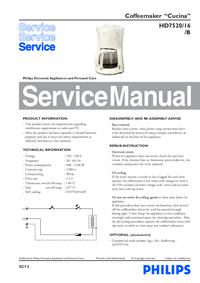 Service Manual Philips Cucina HD7520/16/B