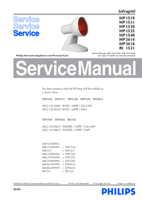 Service Manual Philips Infraphil HP 1510