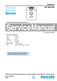 Service Manual Philips Satinelle HP 2841/PB