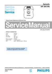 Manual de servicio Philips Satinelle HP 2841/PB