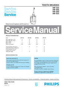 Service Manual Philips HP 505