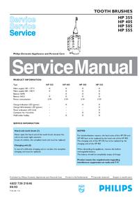 Руководство по техническому обслуживанию Philips HP 405