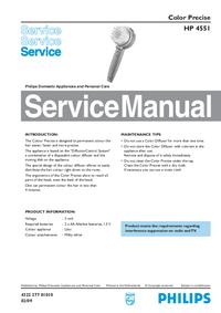 Manual de serviço Philips Color Precise HP 4551