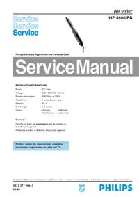 Serviceanleitung Philips Air styler HP 4600/PB