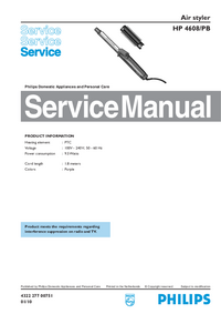 Instrukcja serwisowa Philips Air styler HP 4608/PB